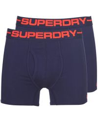 Superdry Sport Boxer Double Pack Boxer Shorts - Blue