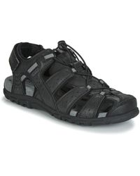 Geox Uomo Sandal Strada Sandals - Black