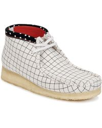 Clarks - Wallabee Boot Mid Boots - Lyst