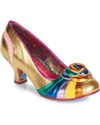 Irregular Choice Stupenda Women's Court Shoes In Gold - Metallic