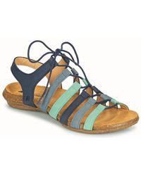 El Naturalista Wakataua Sandals - Blue