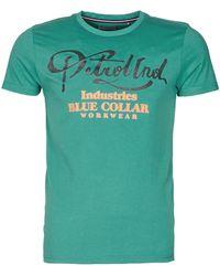 Petrol Industries T-shirt Ss R-neck T Shirt - Green