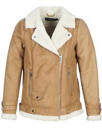 Vero Moda Vmanna Leather Jacket - Brown