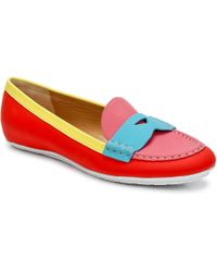Marc Jacobs Sahara Soft Calf Women's Loafers / Casual Shoes In Multicolour - Red