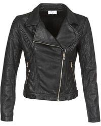 Betty London Jolive Leather Jacket - Black