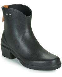 Aigle Ms Juliette Bot Low Ankle Boots - Black