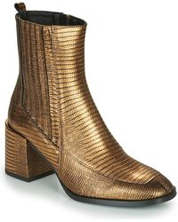 Fericelli Nake Low Ankle Boots - Metallic