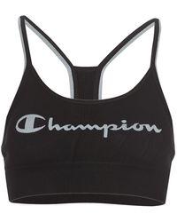 Champion Seamless Fashion Women's Sports Bras In Multicolour - Black