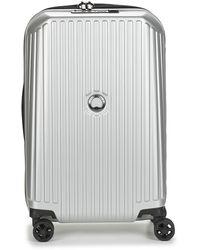 Delsey Securitme Zip 55 Cm 4 Double Wheels Trolley Hard Suitcase - Metallic