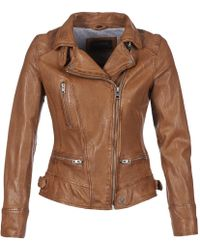 Oakwood - Video Women's Leather Jacket In Brown - Lyst
