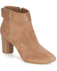 Ted Baker Mharia Women's Low Ankle Boots In Beige - Natural