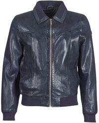 Redskins Rubbets Leather Jacket - Blue