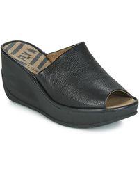 Fly London Jamb Wedge Slide Sandal - Black