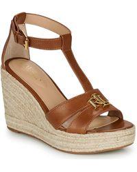 Lauren by Ralph Lauren Hale Espadrilles Casual Sandals - Brown
