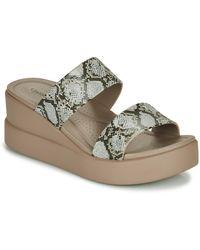 Crocs™ Brooklyn Mid Wedge W Sandals - Natural