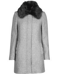 Naf Naf Aroussa Coat - Grey