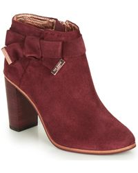 Ted Baker Anaedi Low Ankle Boots - Purple