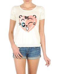 Manoush Tee Shirt Valentine Women's T Shirt In White