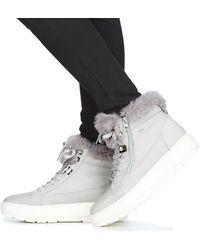 pueblo tempo Adjunto archivo  Geox D Kaula B Abx Women's Mid Boots In Grey in Grey - Lyst