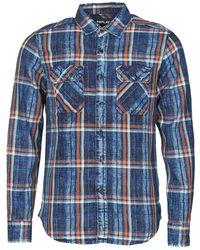 Replay M4033 Long Sleeved Shirt - Blue