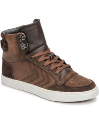 Hummel Stadil Winter Shoes (high-top Trainers) - Brown