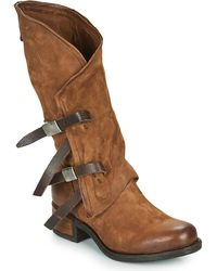 A.s.98 Isperia Buckle High Boots - Brown