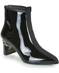 United Nude Lucid Molten Mid Low Ankle Boots - Black
