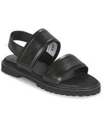 G-Star RAW Core Strap Flat Sling Back Sandals - Black