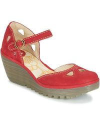 Fly London Yuna Court Shoes - Red