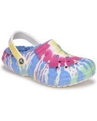 Crocs™ Classic Lined Tie Dye Clog Clogs (shoes) - Blue