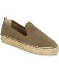 1789 Cala Slip On Double Leather Espadrilles / Casual Shoes - Green
