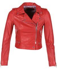 Oakwood Leather Jacket Women's Leather Jacket In Red