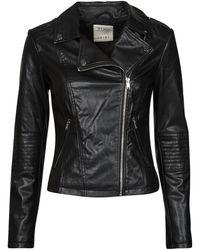 Esprit Pu Biker Leather Jacket - Black