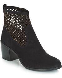 André Totem Low Ankle Boots - Black