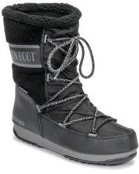 Moon Boot Monaco Wool Mid Wp Snow Boots - Black