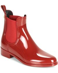 Lemon Jelly Comfy Wellington Boots - Red
