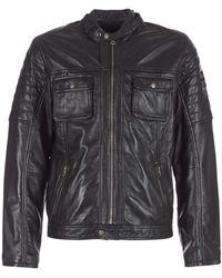 Pepe Jeans Cinnamon Leather Jacket - Black