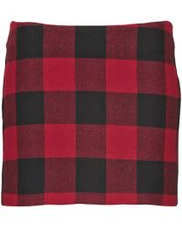 American Retro - Checky Skirt - Lyst
