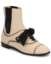 Moschino Ma2103 Women's Mid Boots In Beige - Natural