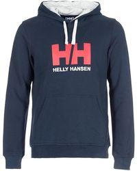 Helly Hansen Logo Pullover Hoodie - Blue