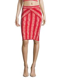 BCBGMAXAZRIA Alexa Knit Jumper Skirt - Red
