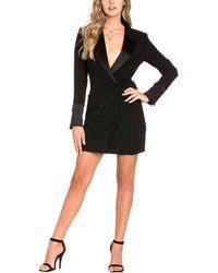 Dance & Marvel Mini Suit Dress - Black