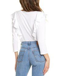 NYDJ Flounce Sleeve T-shirt - White