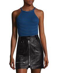 Splendid - Striped Halter Bodysuit - Lyst