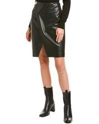 Elie Tahari Jade Wrap Skirt - Black