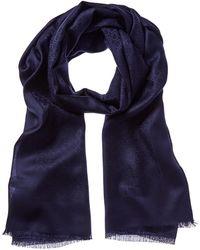 Ferragamo Silk & Wool-blend Scarf - Blue