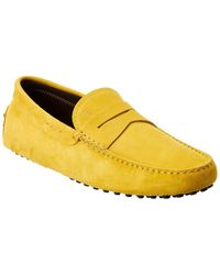 Tod's Leather Gommino Loafer - Yellow