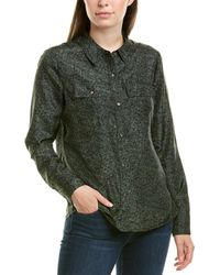ecru Silk Shirt - Green