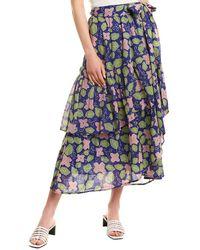 brand: Banjanan Frances Midi Skirt - Blue