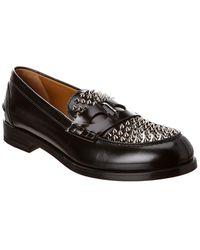 Christian Louboutin Montezupik Leather Loafer - Black
